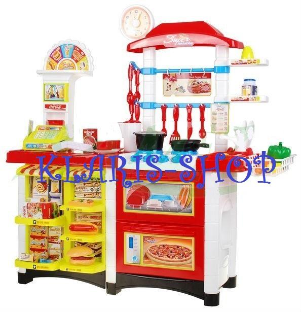 Velká sada 2v1 - kuchyň a obchod s doplňky