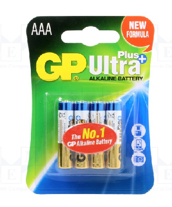 4 ks Alkalická baterie AA GP ULTRA PLUS 1,5V