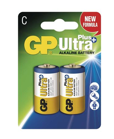 Alkalická baterie GP Ultra Plus LR14 (C), 2 ks